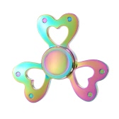 Fidget Toys Anti-Anxiety Spinner 360° Tri Triangle Finger Hand Focusing EDC Focus Toy for Kids Adults Stress Reducer Relieves ADHD Anxiety Desk Portable New Style Rainbow Color Heart Shape