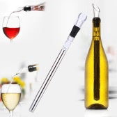 Practical Stainless Steel Wine Cooler Chiller Cooling Chilling Stick with Pourer