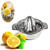 Professional Kitchen Stainless Steel Manual Citrus Press Lemon Squeezer Baby Juicer for Limon Lime and Orange Fruit Juice Squash with Bowl Juicer