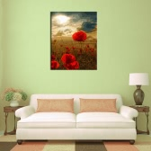 """New DIY Unframed Digital Oil Painting by Numbers Hand Painted Paint By Number 16*20"""" Handwork Gift Set of Floral   Flowers Pattern On Cotton Cloth Print Decoration for Home Living Room Bedroom Office Art Paintings"""