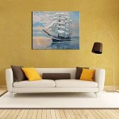 """New DIY Unframed Digital Oil Painting by Numbers Hand Painted Paint By Number 16*20"""" Sailing Ship Pattern On Cotton Cloth Print Home Decoration Craft Decoration for Home Living Room Bedroom Office Art Paintings"""