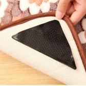 4PCS Sticky Gel Rug Carpet Corners Gripper Grip Pad Mat Instantly Flattens Anti Slip Slide Non-slip Reusable Washable