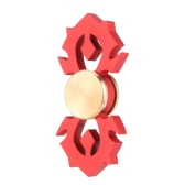 New Novel Metal Aluminium Alloy Fidget Finger Hand Spinner Spin Widget Focus Toy EDC Pocket Desktoy Gift for ADHD Children Adults Relieve Stress Anxiety Hybrid Ceramic Bearing Red Flame
