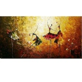 "24""*48"" Hand Painted Oil Painting Ballet Dancer Unframed Canvas Wall Picture Wall Decoration Paintings Beautiful Room Decoration 60*120cm Painting Home Decoration Housewarming Gift"