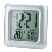 LCD Water Resistant Shower Clock Bathroom Kitchen Wall Clock Temperature humidity Measurement with Sucker