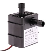 Anself Ultra-quiet Mini DC12V 4.2W Micro Brushless Water Oil Pump Waterproof Submersible Fountain Aquarium Circulating 240L/H Lift 300cm