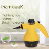 Homgeek Brand New Portable Multifunction HTHP Steamer Household Steam Cleaner Vapor Cleaner for Stain Removal, Curtains, Crevasses, Bed Bug Control, Car Seats and Remove Grease, Mold and Disinfects 1050W With 9 Attachments 110-120V/60Hz