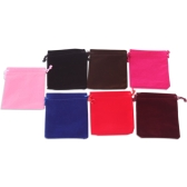 "1pc 4.0 * 4.7"" Portable Small High Quality Lint Pouches String Bag with Drawstring for Jewelry Wedding Party Christmas Gift Arts & Crafts Travel Random Color"