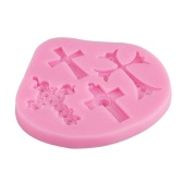 1Pcs 100% Food Grade Silicone Baking Candy Chocolate Mold Mould Cross Pattern Bakeware Decorating Decoration DIY Mould Soap Die Random Color