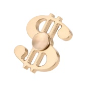 Music Note Shape Brass Spinner Time Killer Dollar Sign Focus Anxiety Stress Reducer Ultra Durable High Speed EDC Focus ADHD Autism