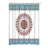 Mandala Flower Pattern Rideau de salle de bain Rideau de douche résistant au mildiou Polyester Non-odorant avec crochet