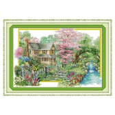 Decdeal DIY Handmade Needlework Cross Stitch Set 67 * 48cm Embroidery Kit 14CT Printed Cross-Stitching Home Decoration