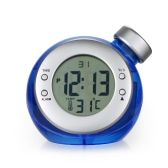 Multifunctional Water Powered Clock Creative Environmental-Friendly Thermometer Alarm Clock Temperature Display Home Use Daily Alarm Clock Student Gift