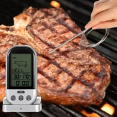 LCD Wireless Cooking Food Thermometer Timer Digital Probe Meat Thermometer Barbecue Kitchen BBQ Temperature Gauge