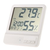 °C/°F Digital Temperature Humidity Measuring Clock Thermometer Hygrometer Calendar