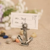 10pcs Retro Style Anchor Place Card Holders Table Mark Cards for Wedding Banquet Decoration