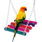 Cute Natural Wood Pet Parrot Bird Swing Toy Hanging Parrot Parakeet Budgie Cockatiel lovebirds Swing Ladder Cage Hammock Hanging Toy
