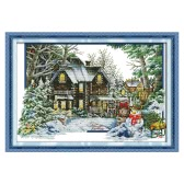 Decdeal DIY Handmade Needlework Cross Stitch Set 68 * 48cm Embroidery Kit 14CT Printed Cross-Stitching Home Decoration