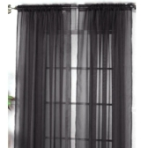 2Pcs 100*200cm Romantic Pure Color Voile Door Window Curtains for Living Room Wedding Banquet Decoration Black
