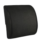 Anself Comfort Memory Foam Lumbar Support Pillow Back Cushion Ergonomic Lower Back Pain Pillow for Office Chair Car Travel W/ Removeable Mesh Fabric