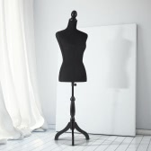 "iKayaa Female Mannequin Torso Dress Form with Wood Tripod Stand Pinnable Size 34"" 26"" 35"""