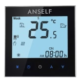 Anself 16A 110~240V Electric Heating Energy Saving WIFI Smart Thermostat with Touchscreen LCD Display Durable Programmable Temperature Controller Good Quality Home Improvement Product