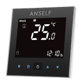 Anself 3A 110~240V Water Heating Thermostat with Touch Screen LCD Display 7-Day Programmable Room Temperature Controller Home Improvement Product