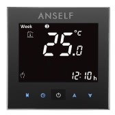 Anself 16A 110~240V Electric Heating Thermostat with Touch Screen LCD Display 7-Day Programmable Room Temperature Controller Home Improvement Product