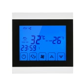 220-230V Air Conditioner 2-pipe Thermostat with LCD Display Good Quality Touch Screen Programmable Room Temperature Controller Home Improvement Product