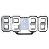 Multifunctional Large LED Digital Wall Clock 12H/24H Time Display With Alarm and Snooze Function Adjustable Luminance