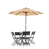 iKayaa 2.7M Patio Umbrella Garden Umbrella  Outdoor Cafe Beach Umbrella 8 Ribs 38MM Pole W/ Air Vent