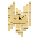Modern DIY Frameless Roman Numerals Quartz Wall Clock Mirror Effect Sticker Decal Set Home Decoration Gold