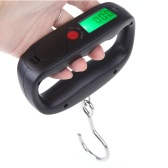 50kg /10g Digital Portable Electronic Luggage Weight Hook Hanging Scale LCD Display kg / lb / oz / g Black
