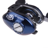 AF103 10+1BB Ball Bearings Right Hand Bait Casting Fishing Reel High Speed 6.3:1 Blue