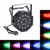 DMX-512 RGB LED Stage PAR Light Lighting Strobe 7 Channel Party Disco Show 25W AC 90-240V EU Plug
