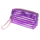 Jelly Cosmetic Bag Make Up Translucent Bath Sunbag Candy Color Purple