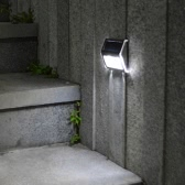 Solar-powered Light with 2pcs LEDs Polycrystalline Solar Panel Rechargeable Water-resistant Environmental-friendly for Pathway Outdoor Stair Step Garden Yard