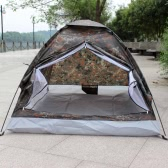 Camping Tent for 2 Person Single Layer Outdoor Portable Camouflage