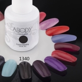 Abody 15ml Soak Off Nail Gel Polish Nail Art Professional Shellac Lacquer Manicure UV Lamp & LED 177 Colors 1340