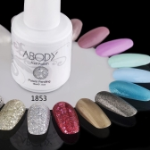 Abody 15ml Soak Off Nail Gel Polish Nail Art Professional Shellac Lacquer Manicure UV Lamp & LED 177 Colors 1853