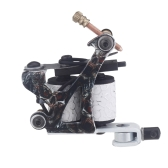 New Pro Tattoo Machine Gun Shader Liner 10 Wrap Coils Free Spring Multicolour