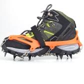 簡単装着で、雪道・凍結路面も安心! 強力の12本爪 アイゼン(収納袋 付き) スノーチェーン 滑り止めスパイク スキーガイド 雪山 登山 トレッキング