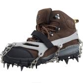 Lixada  簡単装着で、雪道・凍結路面も安心! 強力の12本爪 アイゼン(収納袋 付き) スノーチェーン 滑り止めスパイク スキーガイド 雪山 登山 トレッキング