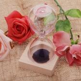 1pcs Magnet Hourglass Awaglass Hand-blown Timer Desktop Decoration Magnetic Hourglass Purple