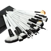 36Pcs Wood Makeup Brushes Kit Professional Cosmetic Make Up Set + Pouch Bag Case