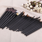 35Pcs Professional Makeup Brushes Kit Cosmetic Make Up Set Wood Handle Powder Eyeshadow Brushes Eyebrow Brush+ Pouch Bag Case