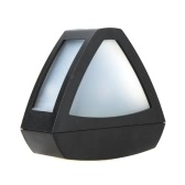 Outdoor Solar Powered LED Path Wall Landscape Garden Fence Park Light Lamp Trangle