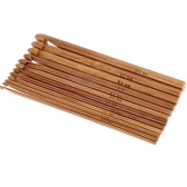 Bamboo Crochet Hook 12pcs/Set 12 Sizes 3mm-10mm Handcraft Tools Kit