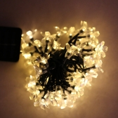 50 LED Solar Christmas String Light Outdoor Fairy Flower Blossom Decoration Xmas Wedding Party Garden Lights