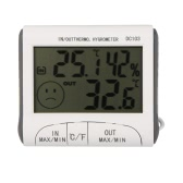 Temperature Humidity LCD Digital Thermometer Hygrometer Meter w/ Wired External Sensor